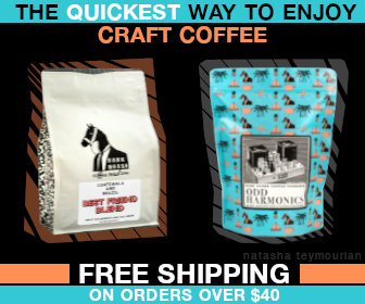 Large Square Display Ad for Dark Horse Coffee San Diego