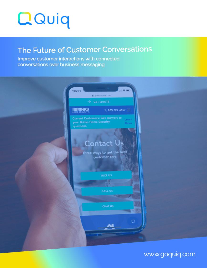 Quiq: The Future of Customer Conversations White Paper